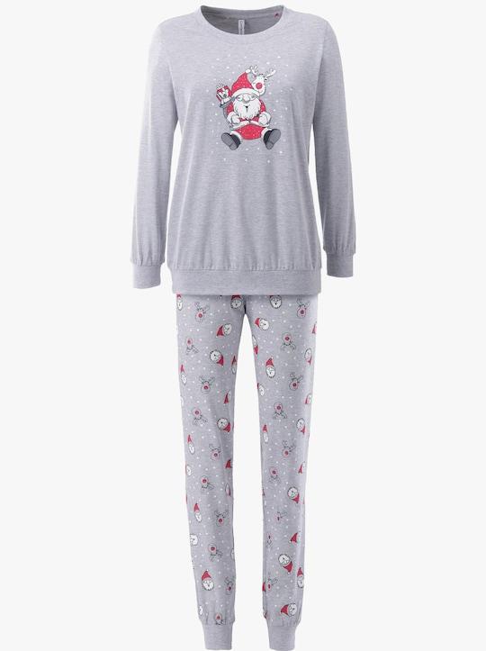 wäschepur Schlafanzug - grau-meliert