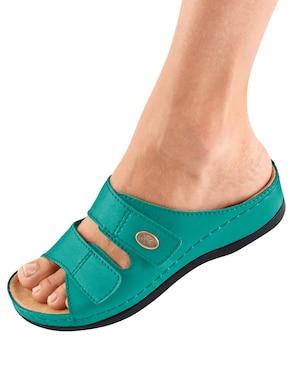Franken Schuhe slippers - turquoise