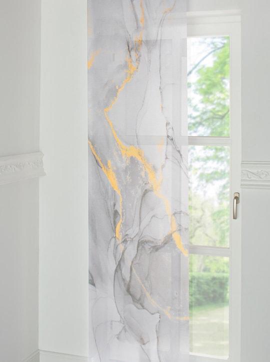 Schiebevorhang - grau-bedruckt
