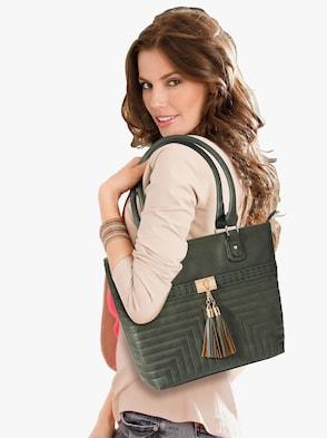 Handtas met etui - groen