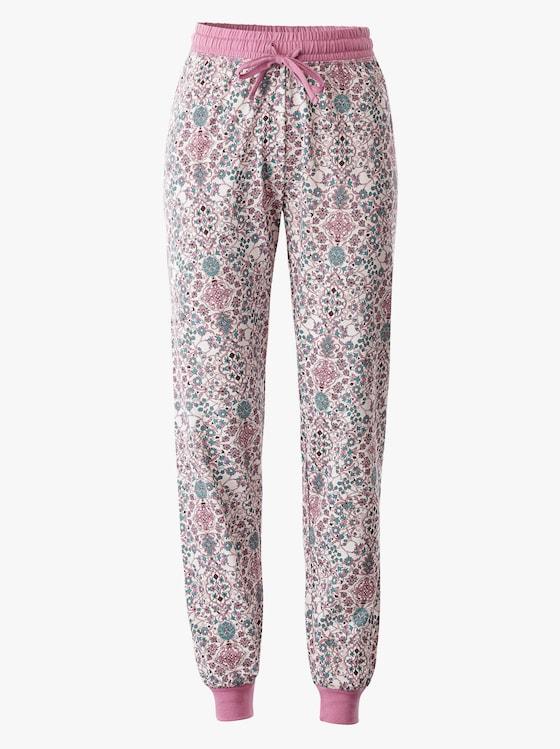 Schlafanzug-Hose - rosé-bedruckt
