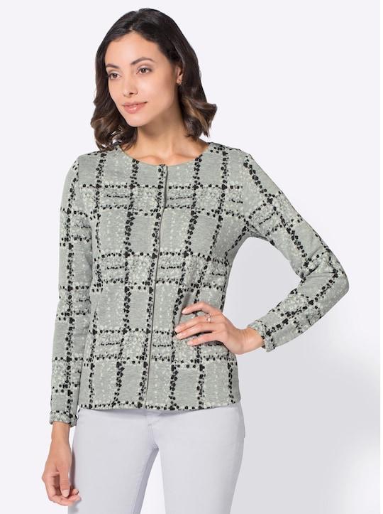 Shirtblazer - grau-schwarz
