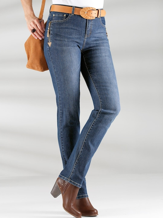 Collection L Jeans - blue-stone-washed