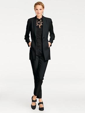 Patrizia Dini Lange blazer - zwart