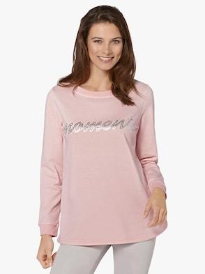Sweatshirt - rosé-bedruckt