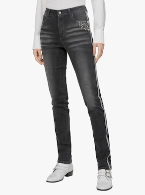 Baumwoll-Modal-Jeans - dark grey-denim
