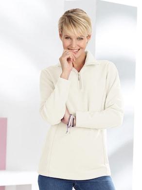 Fleece-Shirt - weiß
