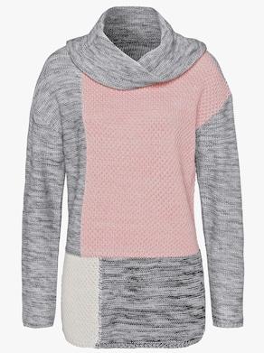 Pullover - grau-gemustert
