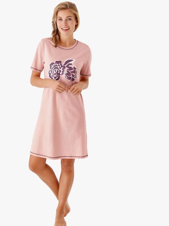 Nachthemden - roze + bordeaux