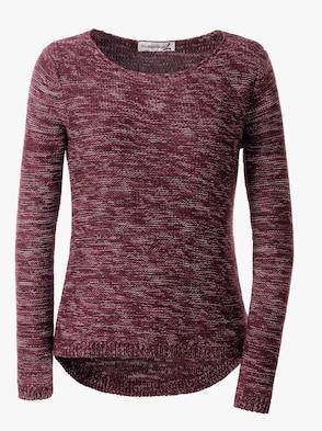 Pullover - bordeaux-meliert