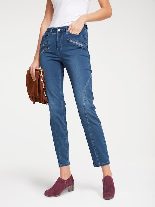 Linea Tesini Bauchweg-Jeans - blue denim