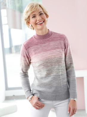 Pullover - rosé-gemustert