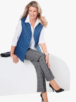 Quiltad väst - jeansblå