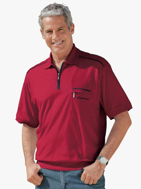 Kurzarm-Poloshirt - rot
