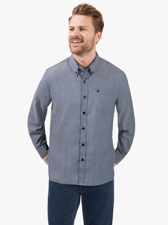 Marco Donati Hemd met lange mouwen - blauw