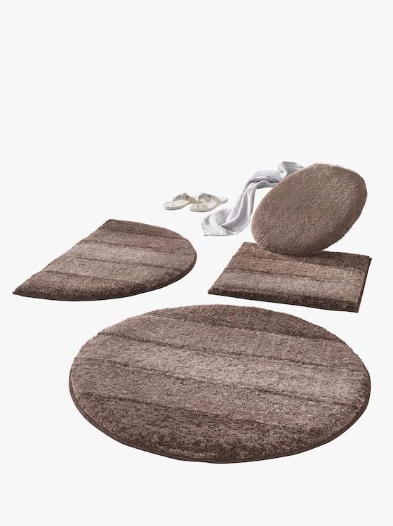 Grund Badeteppich - taupe-gemustert