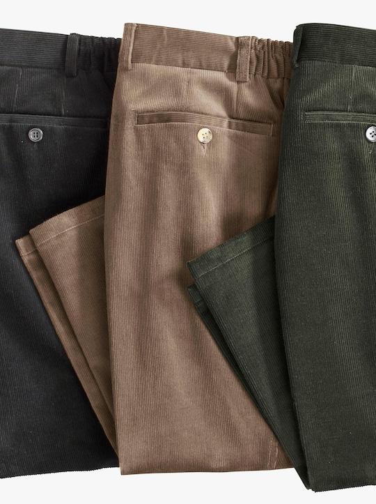 Ribcord broek - zwart
