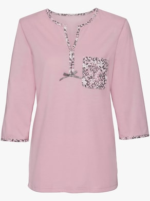 wäschepur Schlafanzug - rosé-grau-bedruckt