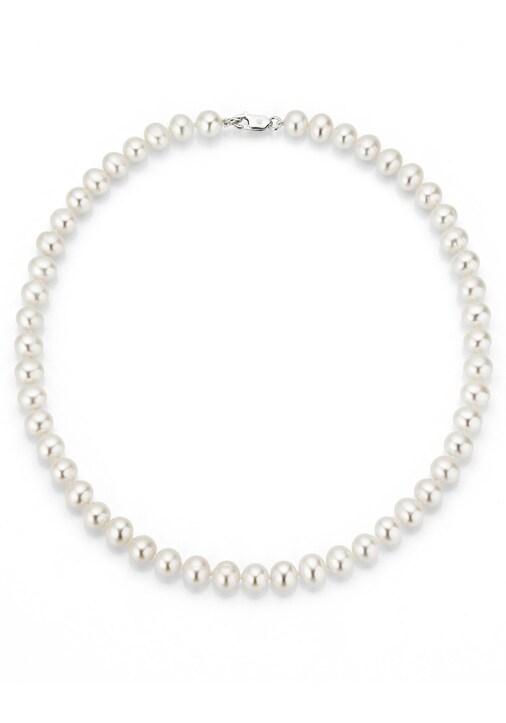 Firetti Perlenkette - silberfarben-weiß