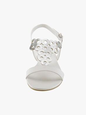 Sandalette - weiß-silberf