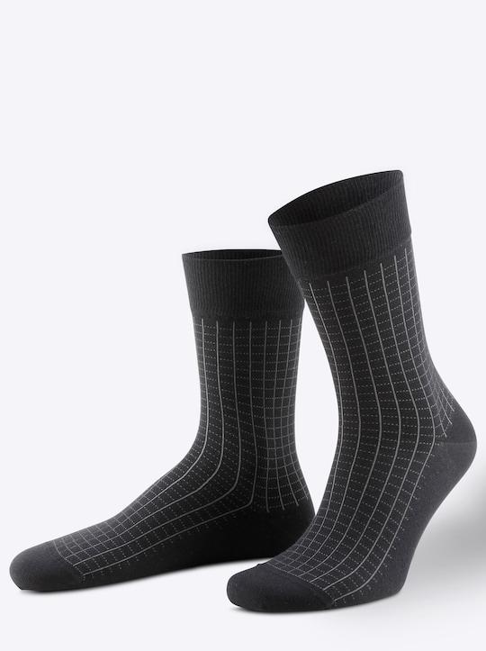 Rogo Herren-Socken - schwarz