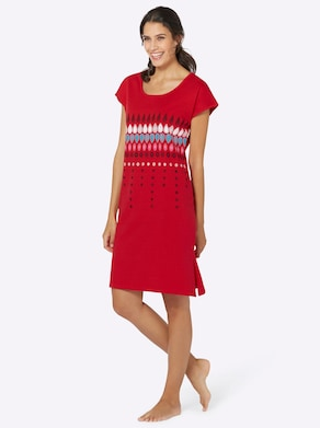 Top Ten Sommerkleid - marine + rot
