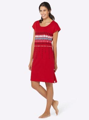 Sommerkleid - marine + rot