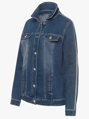 Jeans-Jacke - blue-stone-washed