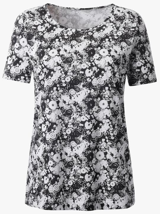 Shirt - zwart geprint