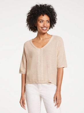 Linea Tesini Pullover - elfenbeinfarben