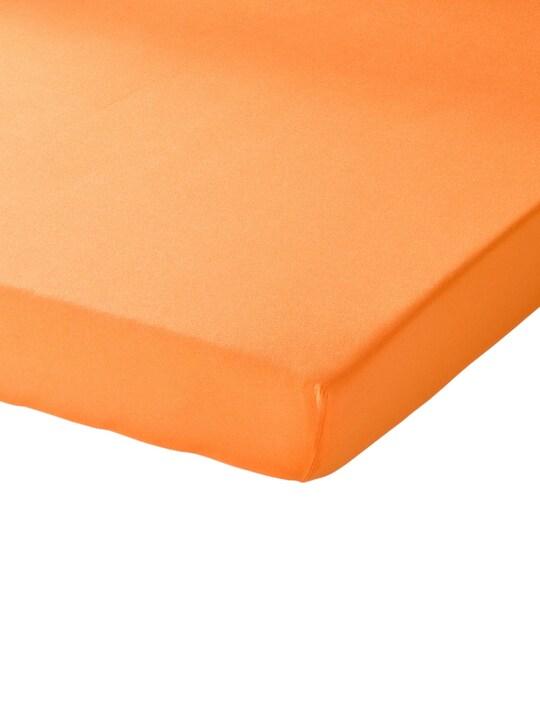 Schlafgut Spannbetttuch - orange