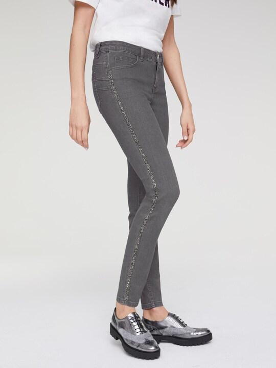 Rick Cardona Bauchweg-Jeans - graphit