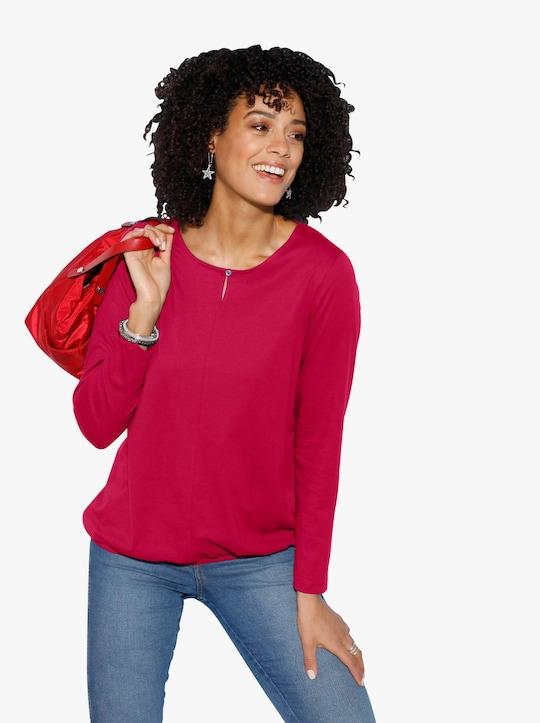 Tričko s dlouhým rukávem - červená