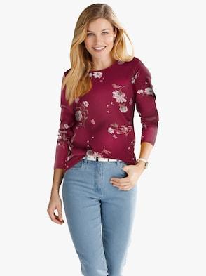 Shirt - dunkelrot-bedruckt