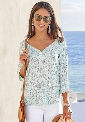 LASCANA 3/4-Arm-Shirt - mint