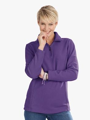 Fleece-Shirt - lila