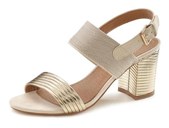LASCANA sandaaltjes - goudkleur