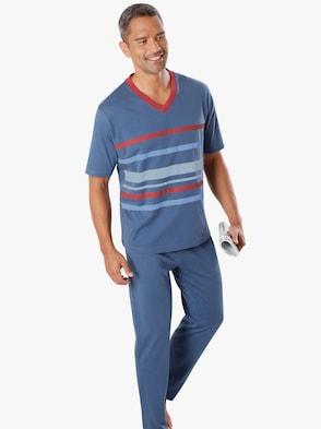 Schlafanzug 3-tlg. Set - marine