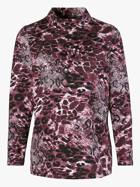 Shirt - prune geprint
