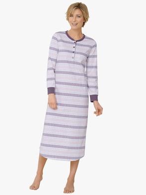 Nachthemd - paars gedessineerd