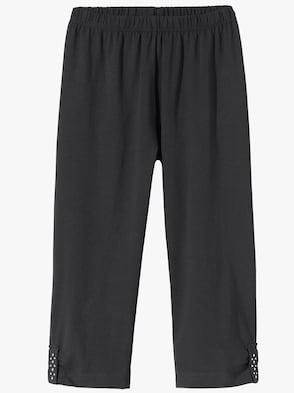 Capri-Leggings - schwarz