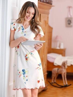 Arabella Nachthemd - wit geprint