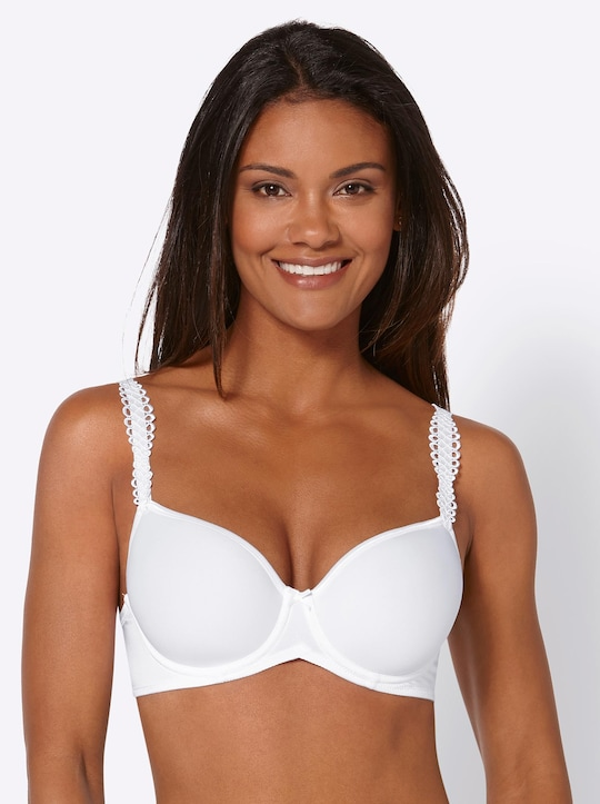 Viania T-Shirt-BH mit Bügel - weiß