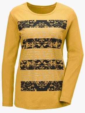 Tričko - hořčicová žlutá