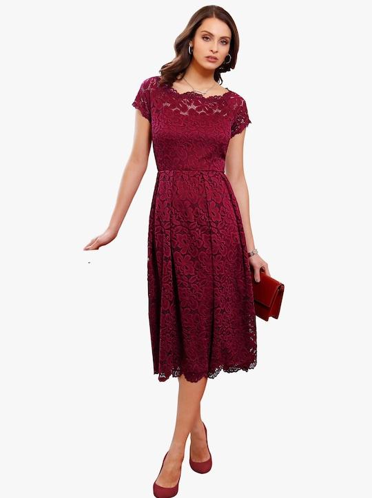Šaty - tmavočervená
