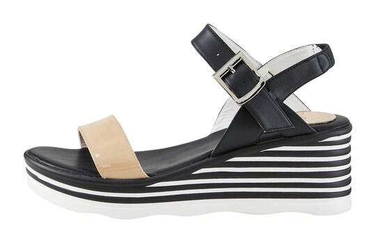 heine sandaaltjes - zwart/wit