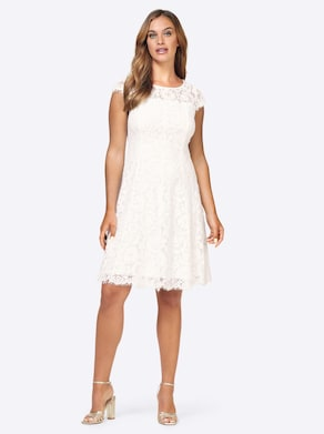 Ashley Brooke Spitzen-Kleid - ecru