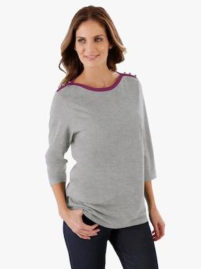 Voľnočasové tričko - Svetlosivý melír