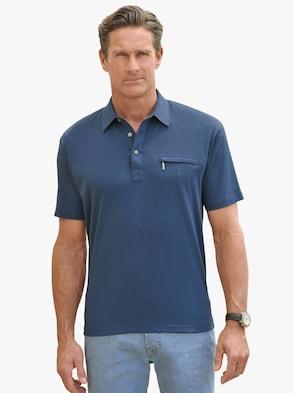 Kurzarm-Shirt - jeansblau