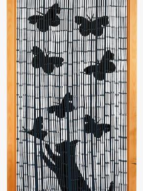 Bambusový závěs - černá